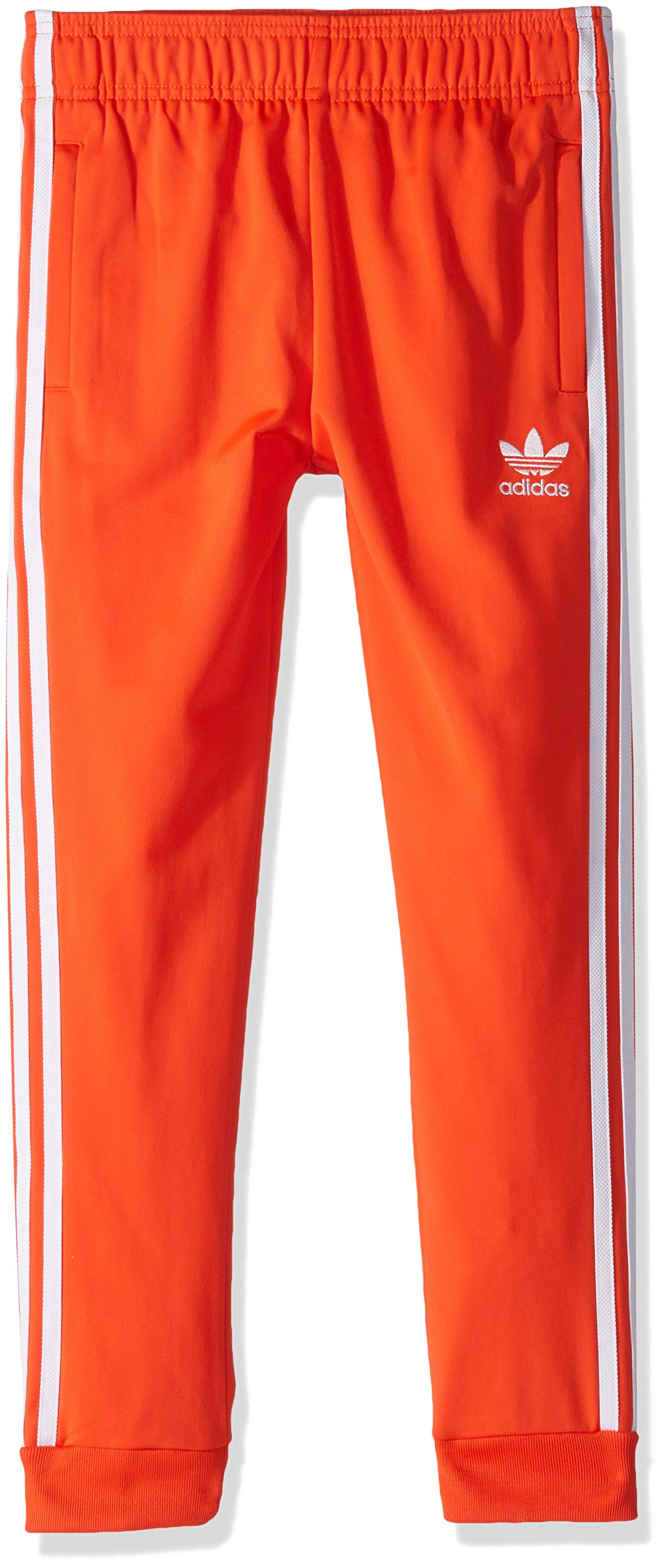 adidas Originals Boys' Big Superstar Pants, Active Orange/White, X-Large