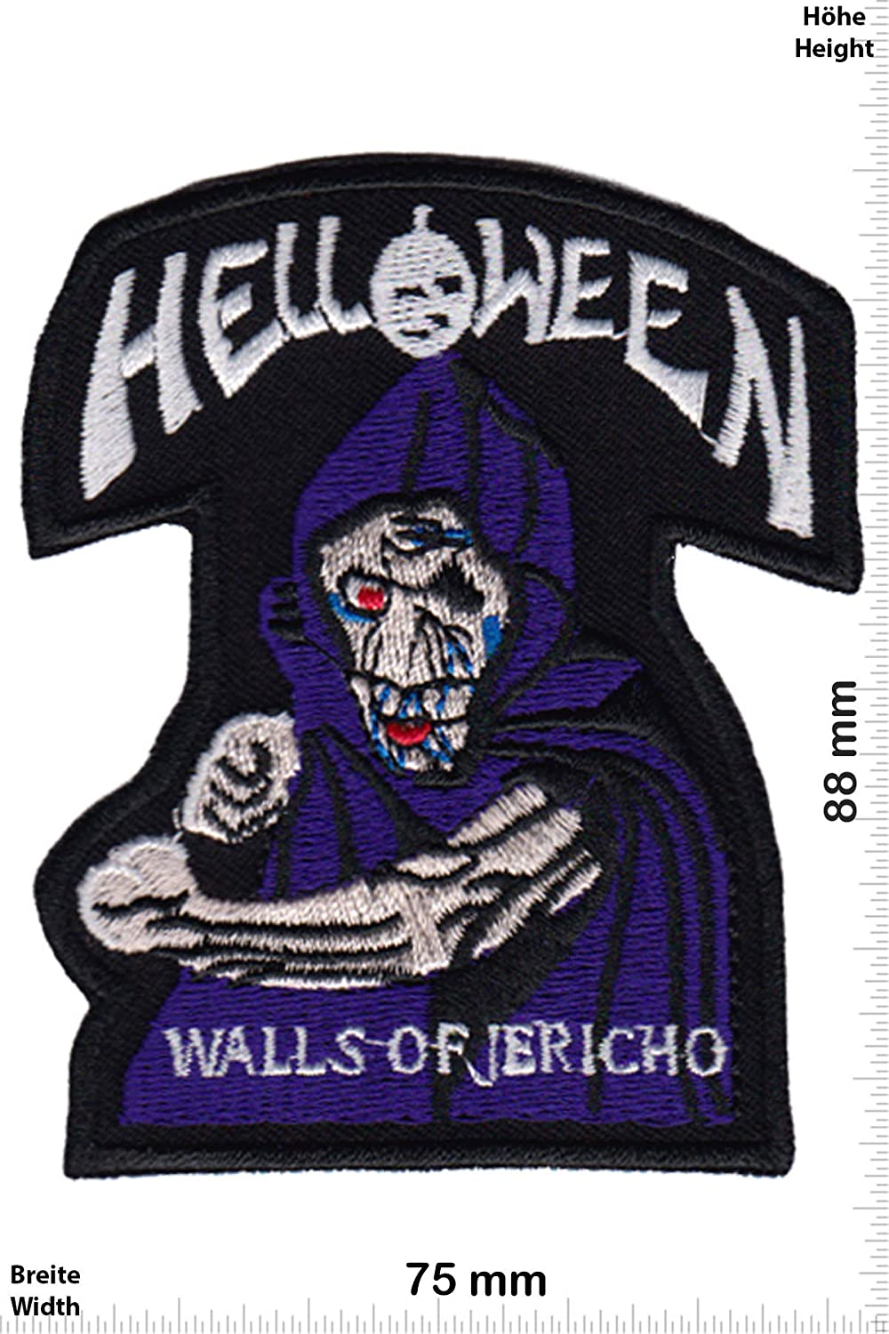 Patch - Helloween - Walls of Jericho - Speed- und Power-Metal-Band -Musique - -Helloween - Iron on Applique Embroidery Écusson brodé Costume Cadeau- Give