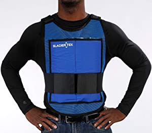 Glacier Tek Classic Cool Vest with Set of 8 Nontoxic Cooling Packs