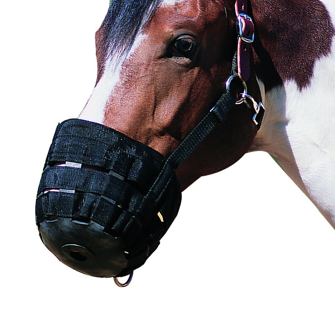 NEFTF Horse Grazing Muzzle for Horses Easy Breathe Webbing Adjustable (Horse)