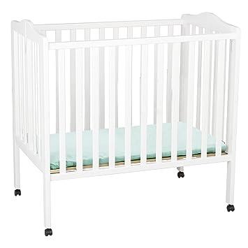 Merveilleux Delta Children Folding Portable Mini Crib With Mattress, White