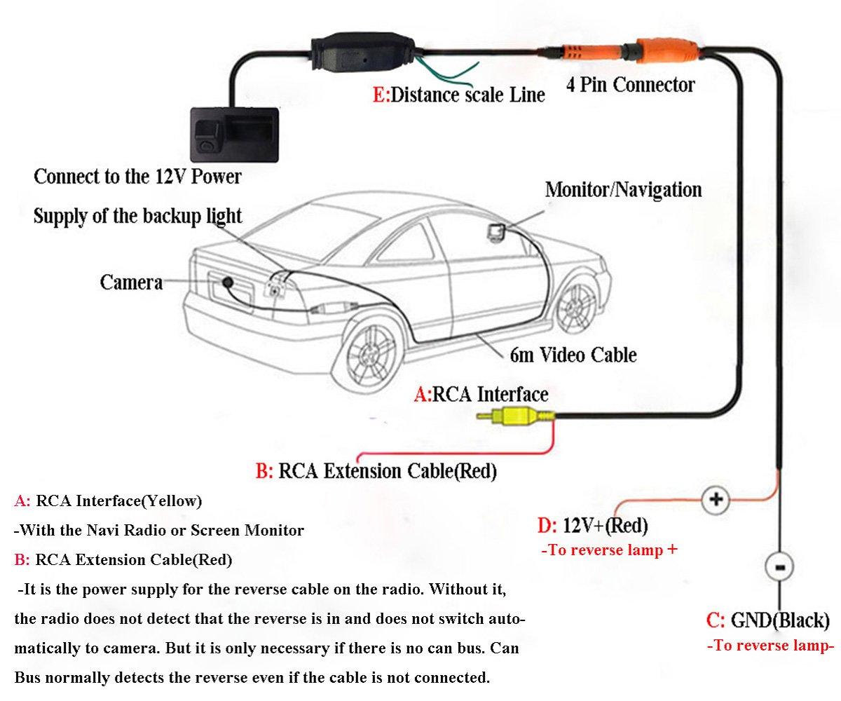 Liebmaya 170 Degree Car Trunk Handle Backup Camera Rear Bmw X5 Reverse Light Wiring Diagram View Hd Parking For E60 E61 E70 E71 E72 E82 E88 E84 E90 E91 E92