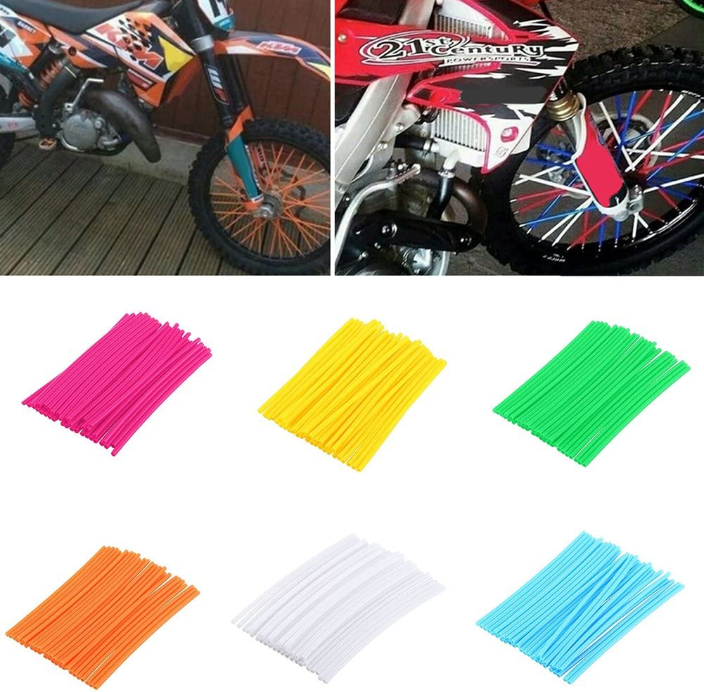 Dexinghaoye 36Pcs//Pack Motorcycle Bike Wheel Spoke Wraps Rims Skin Cover Protector Decor