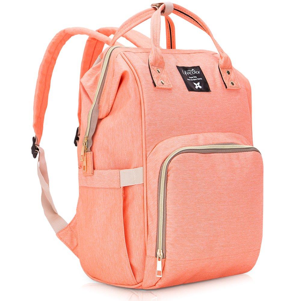 Baby Diaper Bag Travel Backpack for Mom/Dad, Large Capacity Tote Shoulder Bag Organizer Nappy Bags for Baby Care, Multi-Functional Waterproof, Grey Wiscky WKUKBP-DP003DG