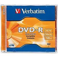 Verbatim DVD-R 4.7GB 16X Branded 1pk Jewel Case 1 Pieza(s) - DVD+RW vírgenes (4.7 GB, DVD-R, 120 mm, 1 Pieza(s), 16x, Caja de Joyas)