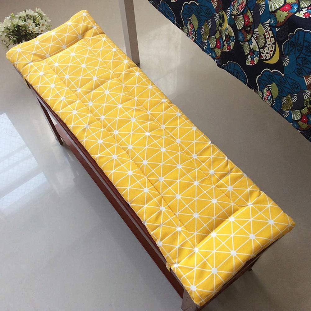 110 x 40 cm con fascette di fissaggio Lingrui cuscino imbottito per panca da patio morbido cuscino per sdraio e sedia imbottitura spessa