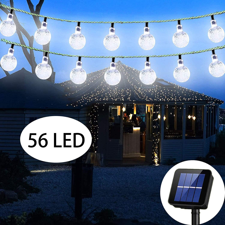 30 50LED Solar String Lights Flower Ball Bulbs Solar Garden Waterproof Decor 7M