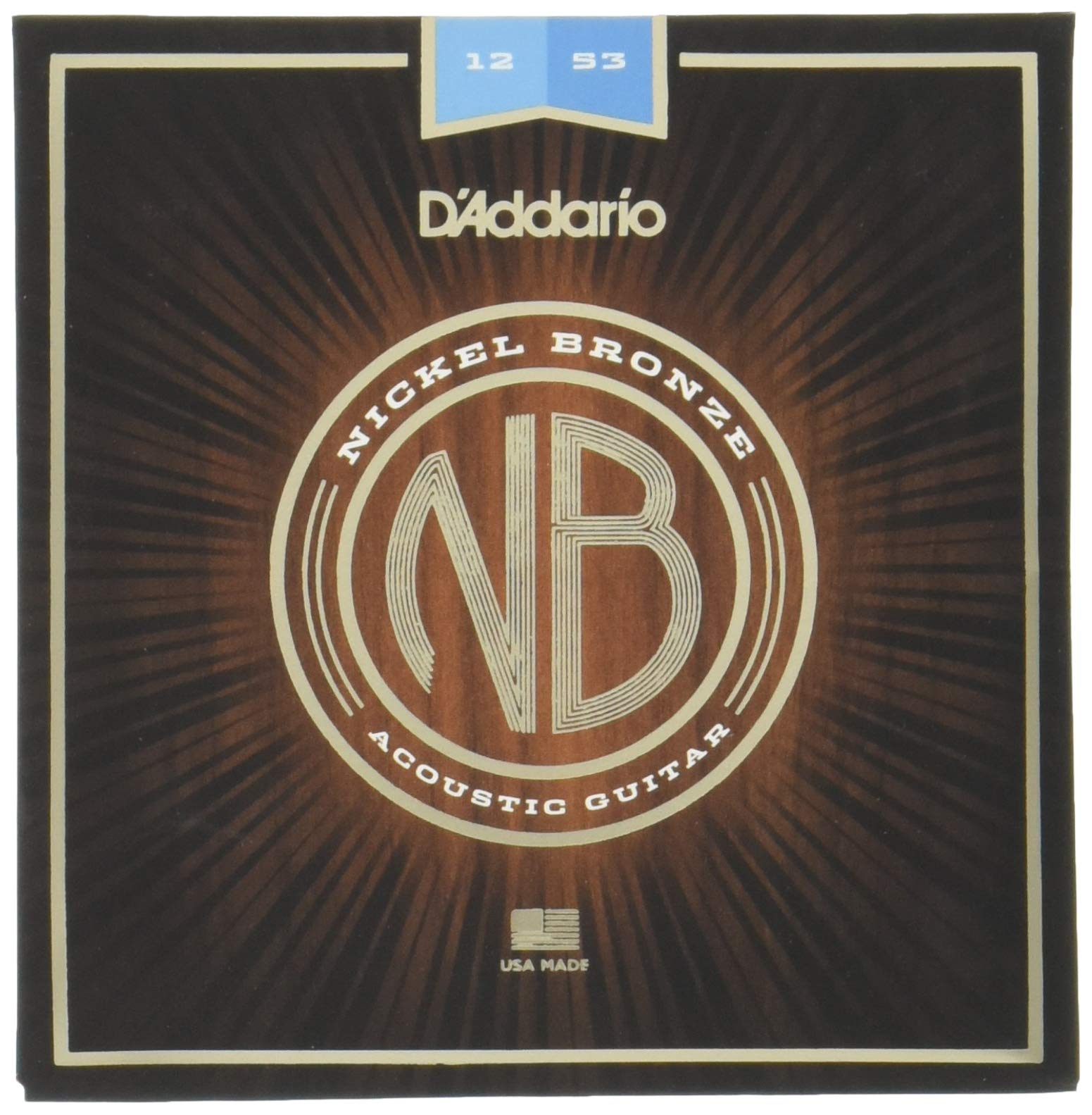 DAddario NB1253 - Cuerdas para guitarra acústica (6 cuerdas, níquel/bronce