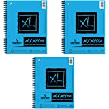Canson XL Mixed Media Spiral Sketch Pad - 60 Sheets - 3 Pack (9 x 12)
