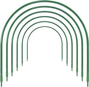 Greenhouse Hoops Garden Tunnel Hoop, Ohuhu 6 PCS 19.7