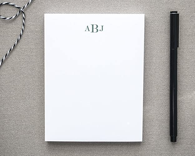amazon com personalized notepad with classic monogram monogrammed