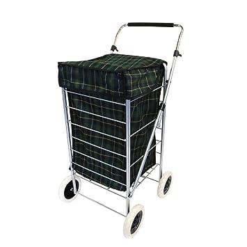 Oypla 4 ruedas plegable Carrito de la compra bolsa de mercado del carro de lavandería