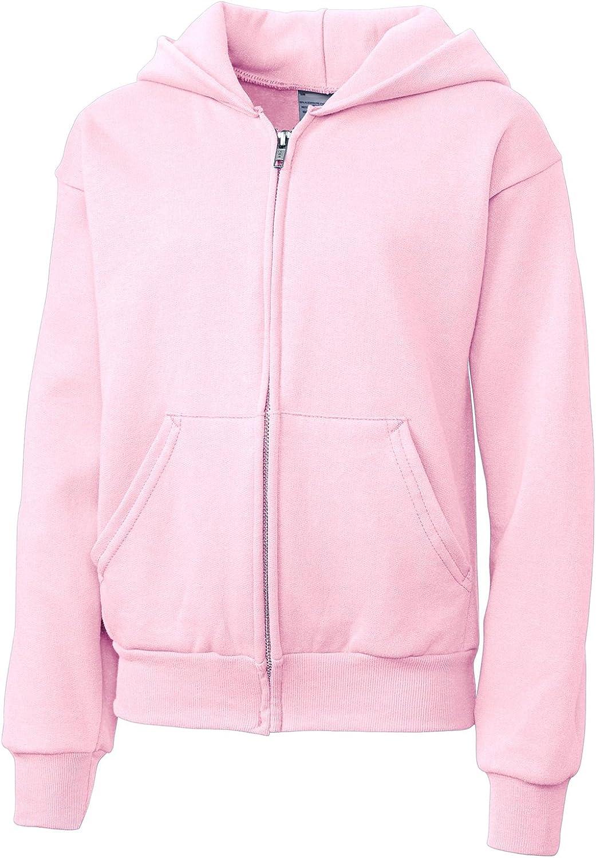 Clique Big Girls Full Zip Comfortable Fleece Warm Hoodie