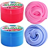 iRunning 2 Pack Fluffy Slime, 7 OZ Soft Floam Slime Putty Stress Relief Toy Scented Sludge Toy for Kids and Adults (Pink, Blue)