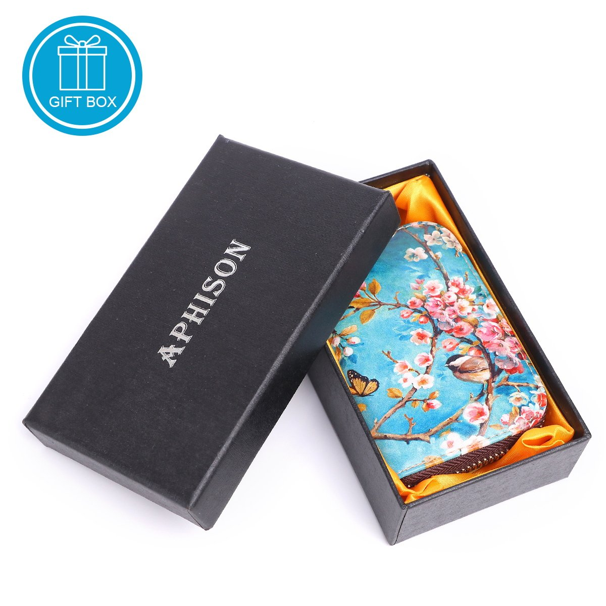 APHISON RFID Credit Card Holder Wallets for Women Leather Cartoon Patterns Zipper Card Case for Ladies Girls/Gift Box 010 by APHISON (Image #7)