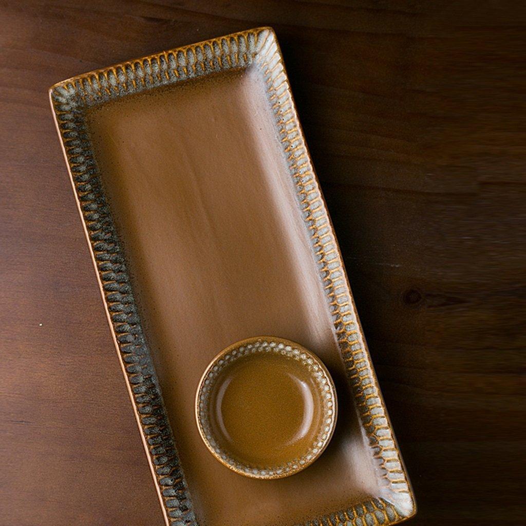 He Xiang Ya Shop Ceramic plate tray brown fish plate soup plate home fruit plate dishware by He Xiang Ya Shop (Image #5)