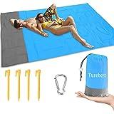 Turebest Manta de Playa 79 * 55 Pulgadas, compacta Manta de Picnic a Prueba de Agua y Arena con Bolsa portátil, Ideal para Vi