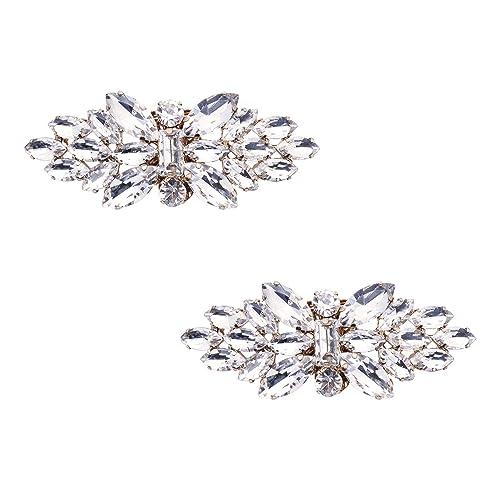 a03f12818a545 ElegantPark AL Women Fashion Rhinestones Crystal Pumps Shoes Decoration  Evening Party Prom Shoes Clips 2 Pcs