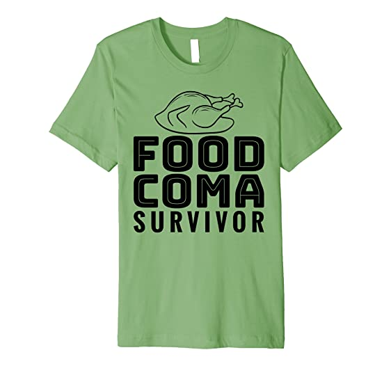 Amazon Com Food Coma Survivor Funny Thanksgiving T Shirt Clothing