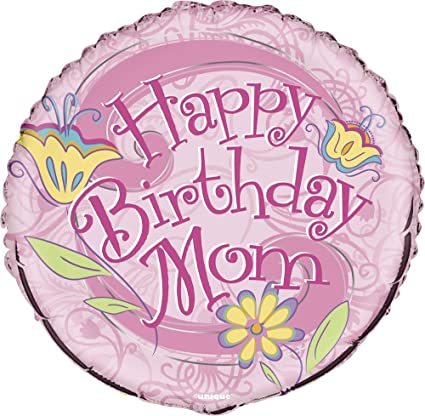 Amazon 18 Foil Floral Happy Birthday Mom Balloon Party