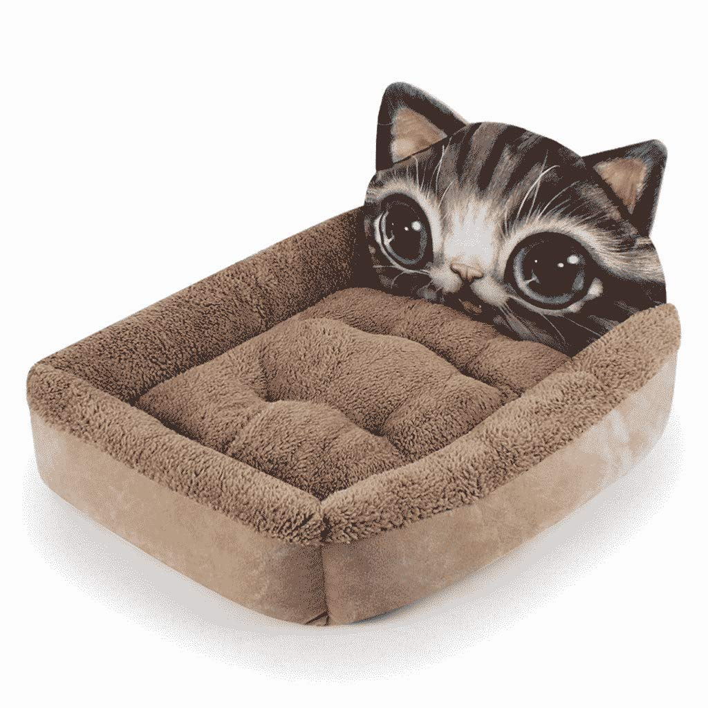 Large Pet Kennel Cat Litter Medium Small Dog Teddy Law Fight Autumn And Winter Warm Pet Supplies WHLONG (Size   LARGE)