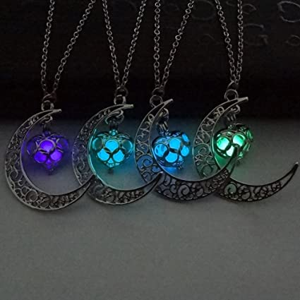 Beauty-OU Dragon Glowing Stone Necklace Women Man Glow in The Dark Pendant Necklace Luminous Decoration Jewellery