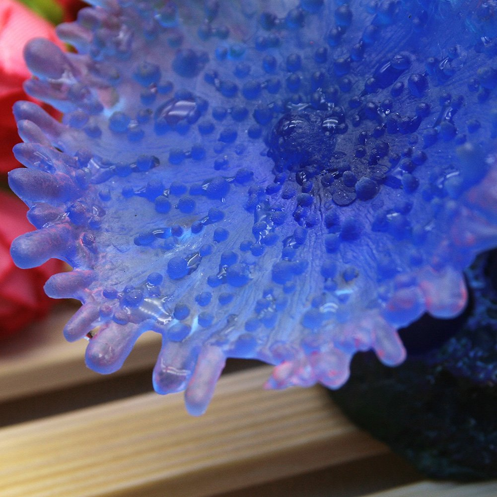Blue Forever Love Simulation Silicone Coral Aquarium Plants Decor