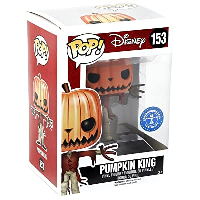 FUNKO Pop! Disney Pumpkin King #153 Hot Topic Exclusive Glows In The Dark / Nightmare Before Christmas Vinyl Figure: Toys & Games