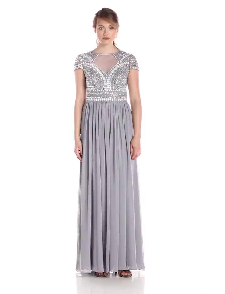 Amazon.com: JS Collection Women\'s Art Deco Short-Sleeved Embellished ...
