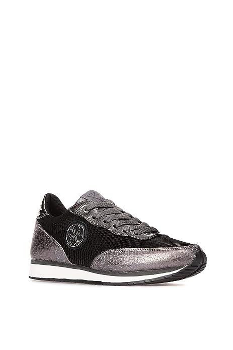 Guess - Zapatillas de Deporte de Sintético Mujer, Negro (Negro), 37 EU: Amazon.es: Zapatos y complementos