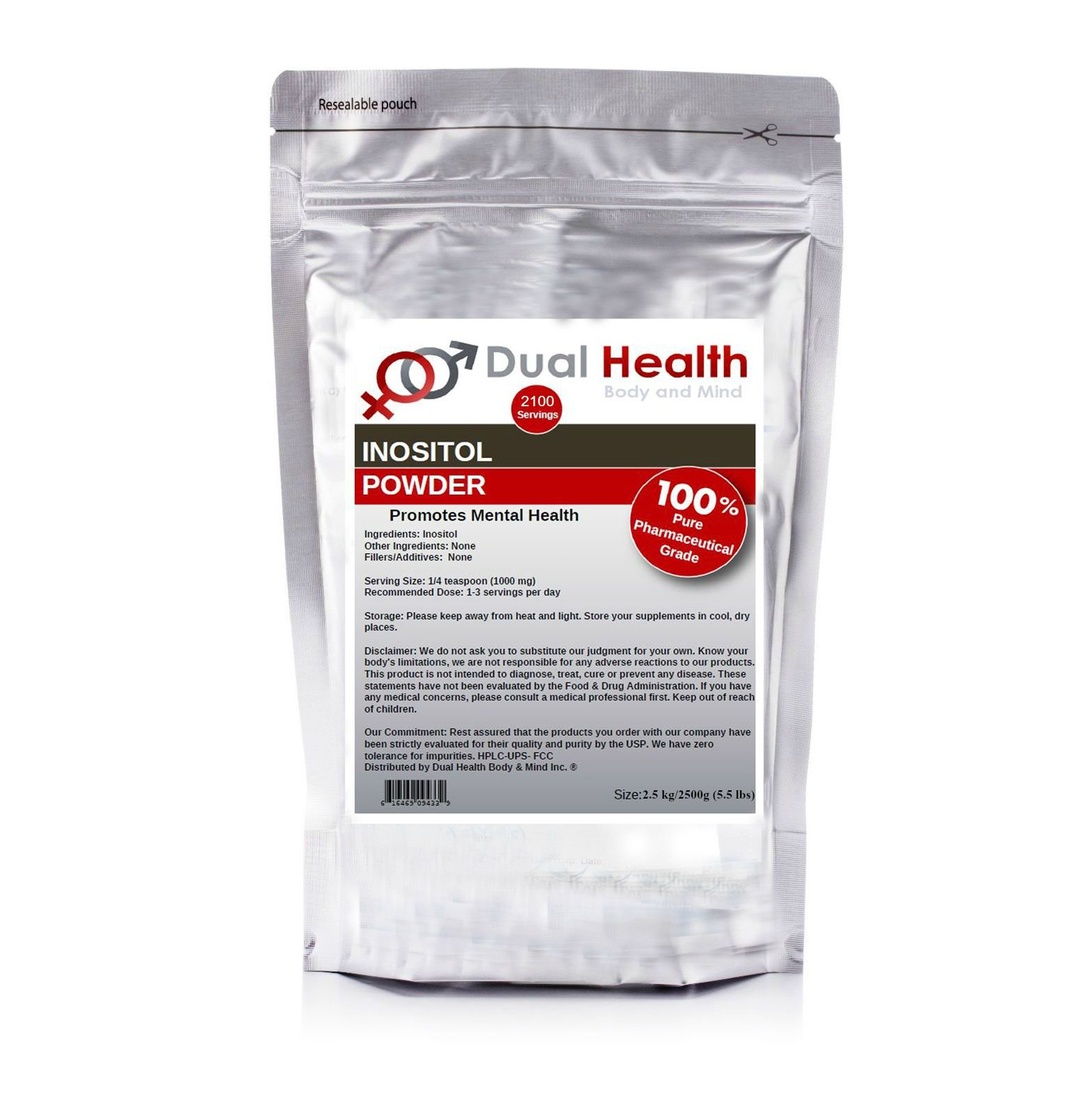 Pure Inositol Powder (2500 grams (5.5 lbs)) Bulk Supplements