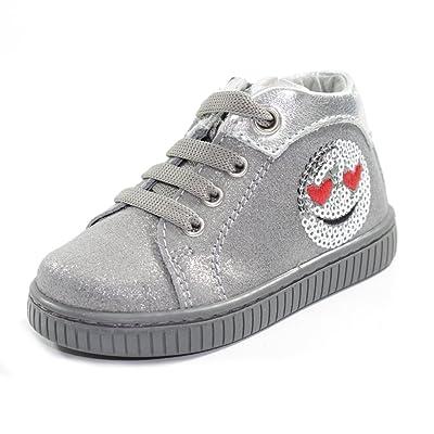 BALDUCCI Chaussures avec Lacets et Charnières Premiers Pas Made In Italy CITA076B Gris/Argent