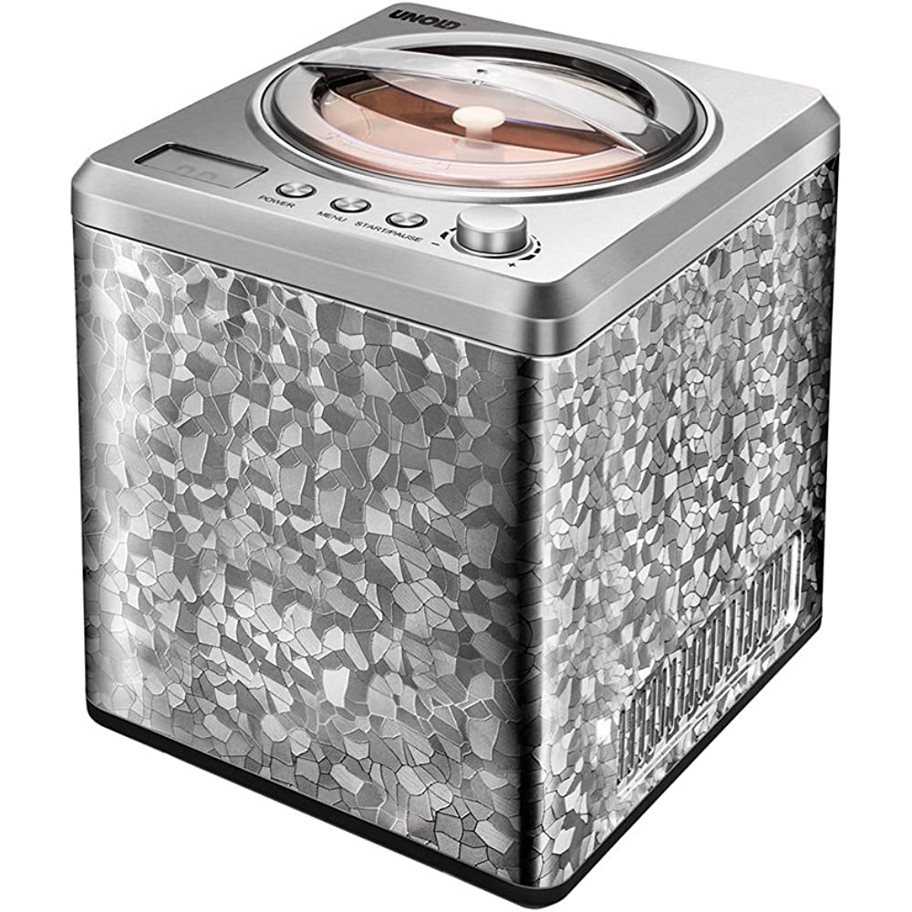 Eine Eismaschine mit Kompressor wird in ganz unterschiedlichen Designs angeboten.
