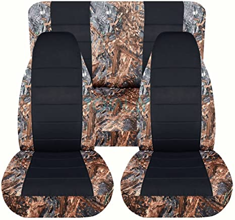 19 Prints Totally Covers Fits 1997-2006 Jeep Wrangler TJ Camo Seat Covers: Wetland Camouflage Full Set: Front /& Rear 1998 1999 2000 2001 2002 2003 2004 2005 2-Door Complete Back Bench