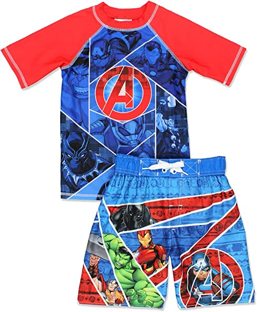 Marvel Toddler Boys Avengers 2-Piece Swim Set