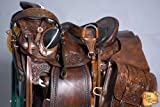 "HILASON 16"" Western Horse Saddle Leather Wade Ranch Roping Mahogany"