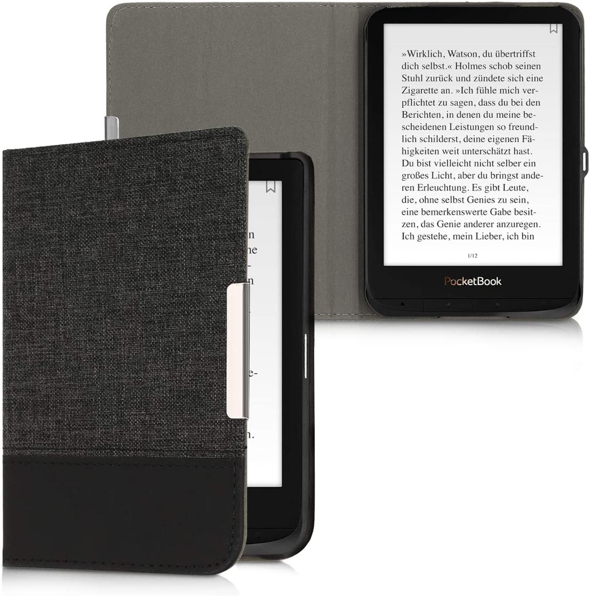 kwmobile Funda de e-Book Compatible con Pocketbook Touch Lux 4 ...