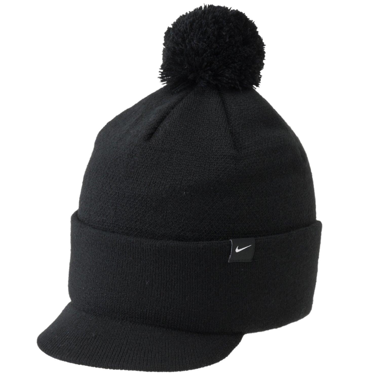 Nike Golf 2013 Women s Pom-Pom Knit Beanie Hat - One Size Fits Most -  Black  Amazon.co.uk  Clothing e132f618535d