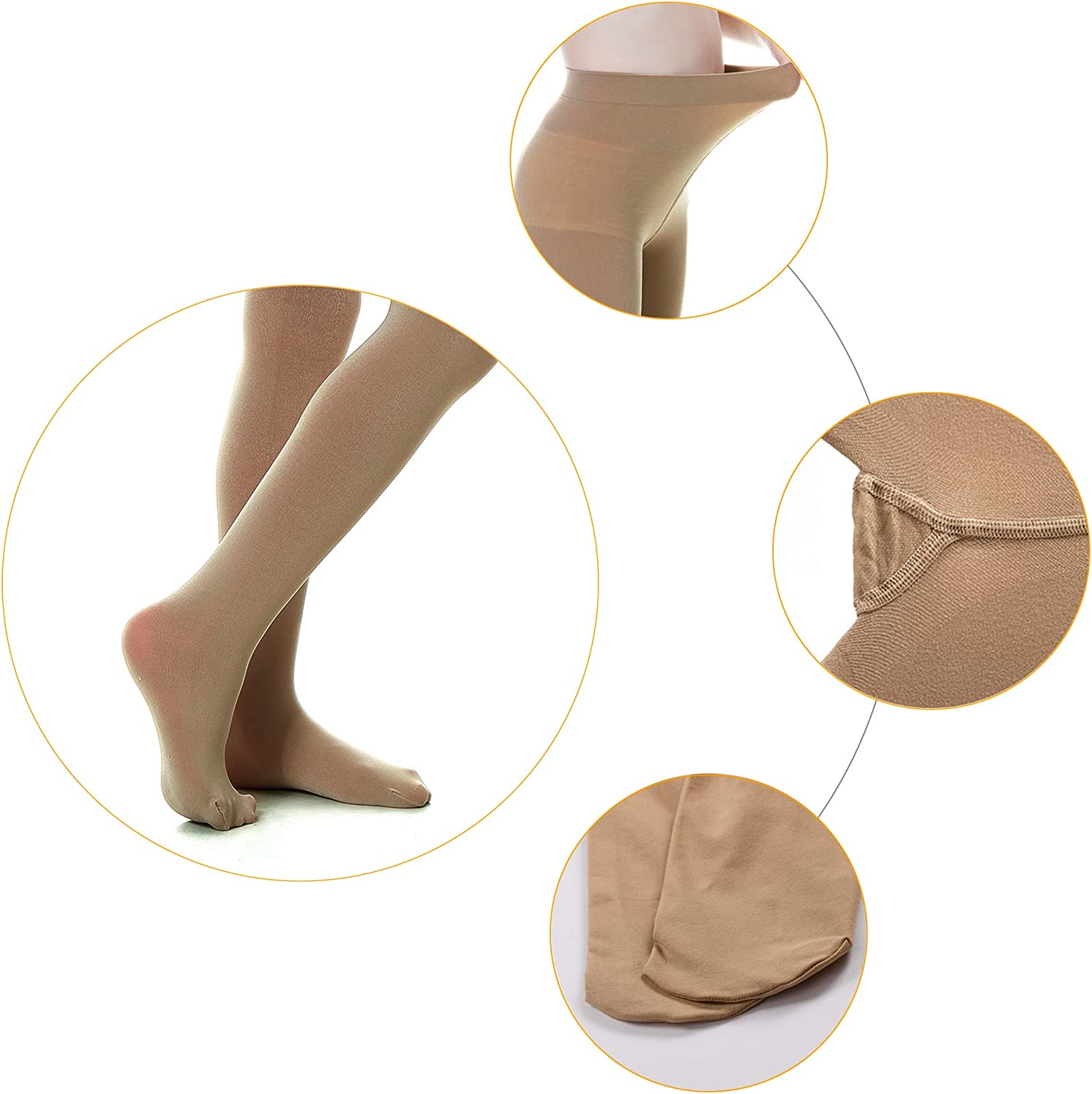 DIPUG 3 Pairs Girls' Durable Soft Ballet Tights/Footed Girls Dance Tight: Clothing