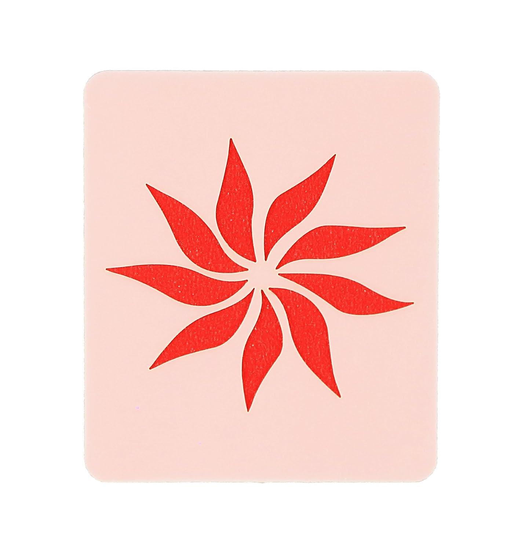 Single Star Flower Face Painting Stencil 7cm x 6cm 190micron Washable Mylar