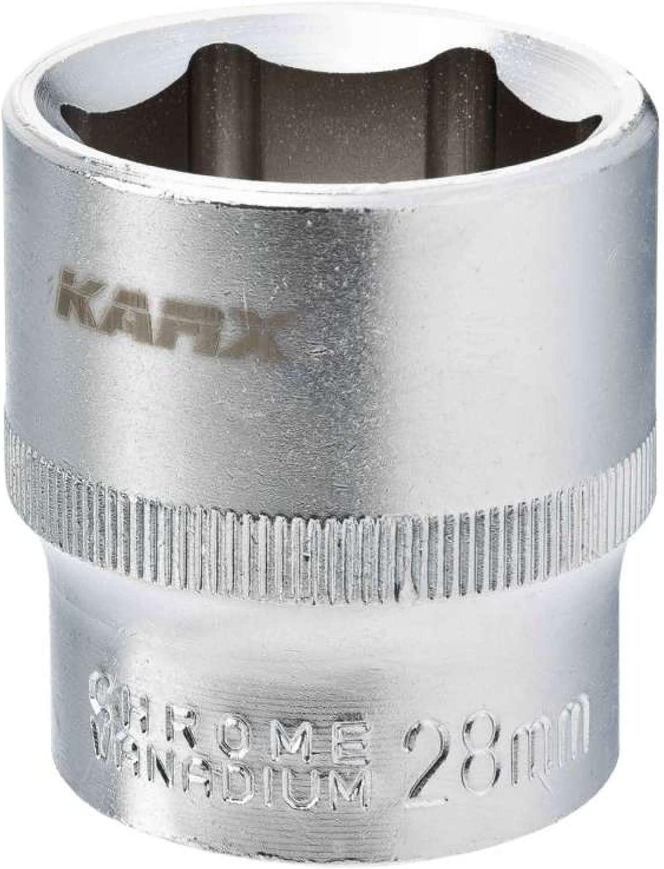 Karx 07045 Douille en Chrome Vanadium 13 mm 1//2