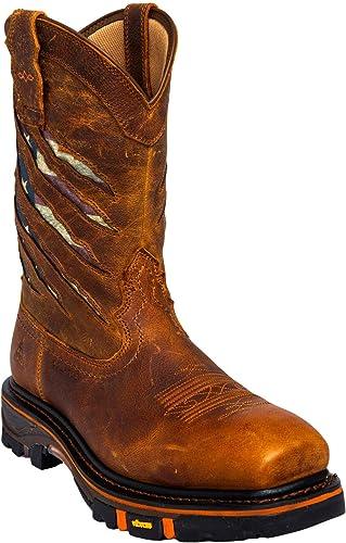Cody James Men's Flag Western Work Boot