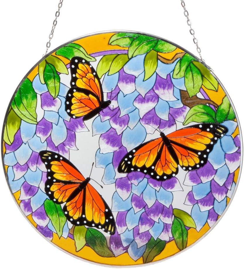 Bits and Pieces Embouts et Pièces pour la Maison et Le Jardin Décor-Artistic Papillon Attrape-Soleil – Peinte à la Main Papillon Monarque Rend Un Superbe Écran Window: Amazon.es: Jardín