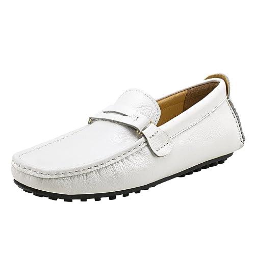 Shenduo Zapatos Hombre Primavera Verano - Mocasines de Cuero Suave con Suela Goma Calzado Cómodos para Hombre D3328: Amazon.es: Zapatos y complementos