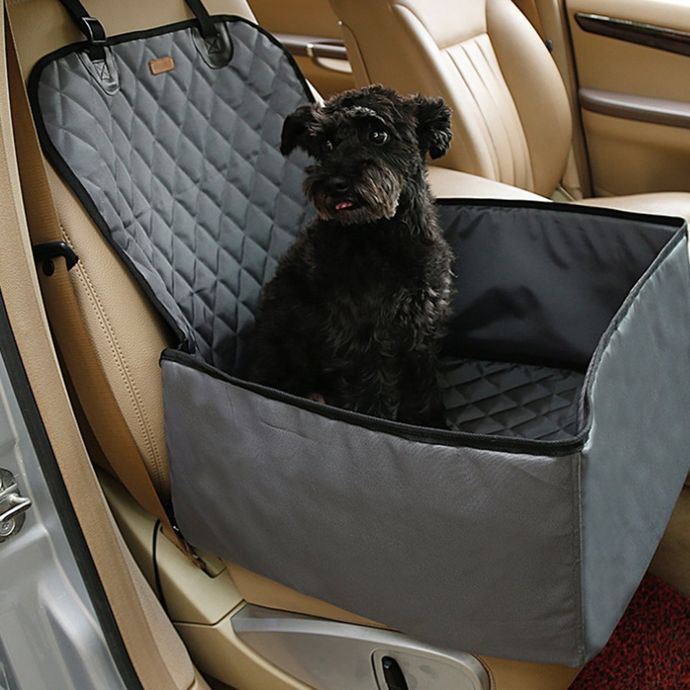Kisspet 2 in 1 Pet dog car supplies thick waterproof single front seat pet car mat (Black) Hmiaow