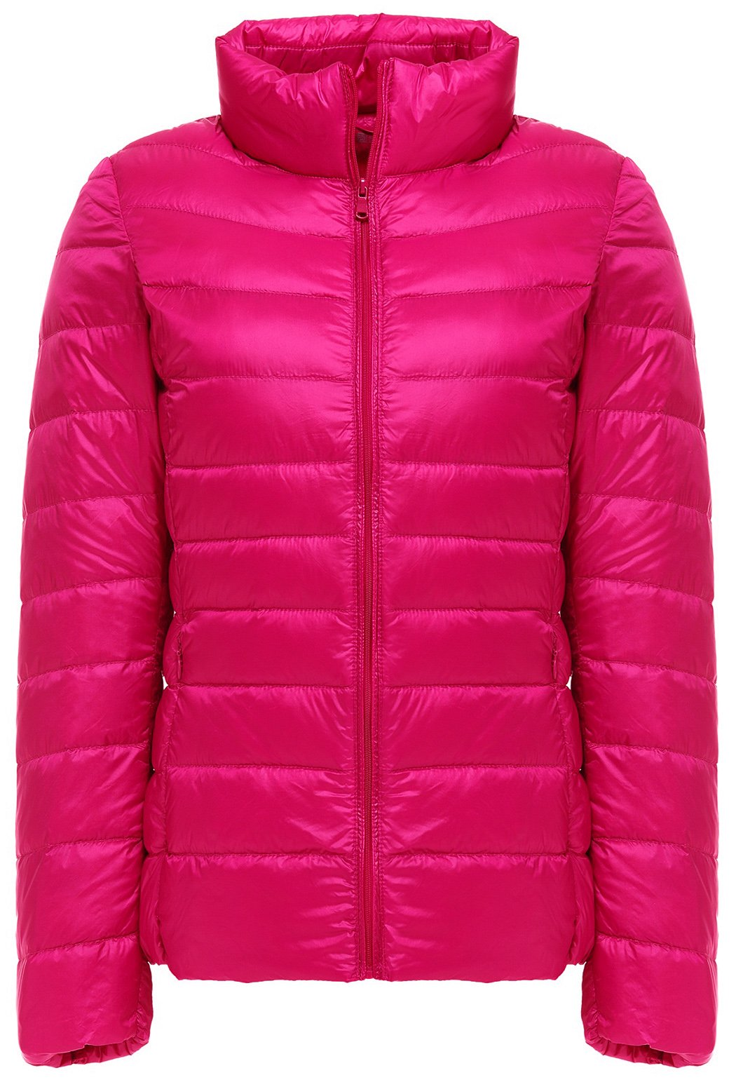 29c86aa4f27 Galleon - Sawadikaa Women s Ultra Light Packable Stand Collar Winter Pillow  Down Puffer Jacket Coat Red Large