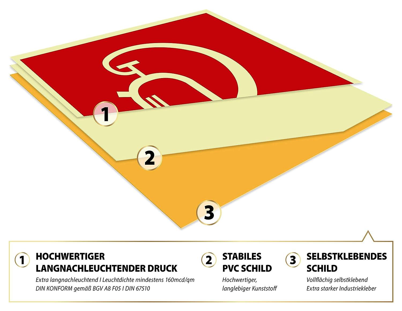 Schild Feuerlöscher extra langnachleuchtend 148x148mm DIN EN ISO 7010 F001