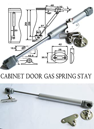 Hnfshop Set of 2 Cabinet Door Lift up Hydraulic Gas Spring Support lift stay  sc 1 st  Amazon.com & Amazon.com: Hnfshop Set of 2 Cabinet Door Lift up Hydraulic Gas ...