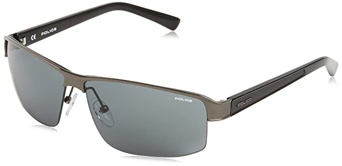 Police - Gafas de sol Rectangulares S8855 FORCE, Grey (Gun ...