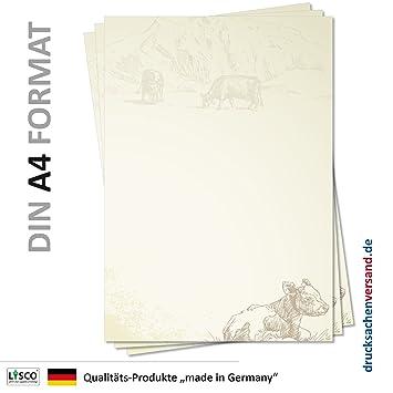 25 Blatt DIN A4 Motiv BUNTE-OSTEREIER Briefpapier